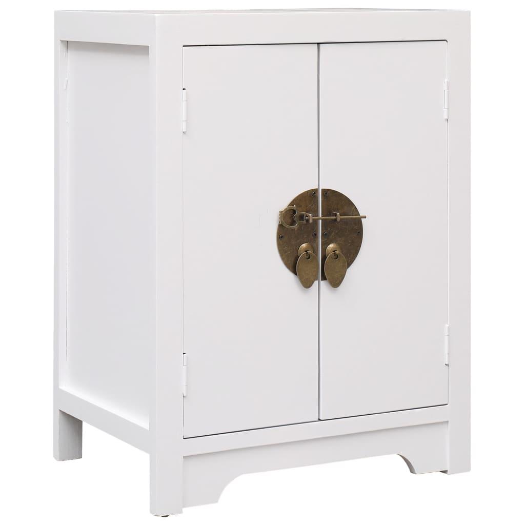 vidaXL Noční stolek bílý 38 x 28 x 52 cm dřevo pavlovnie