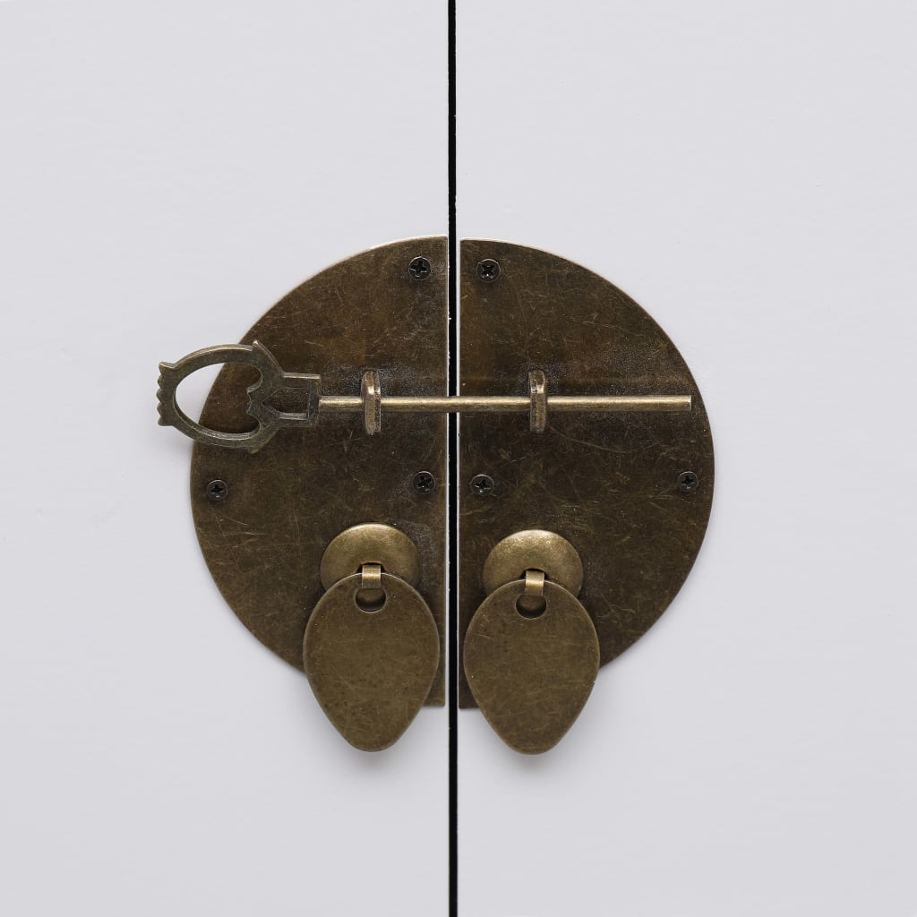 Nachtkastje 38x28x52 cm paulowniahout wit