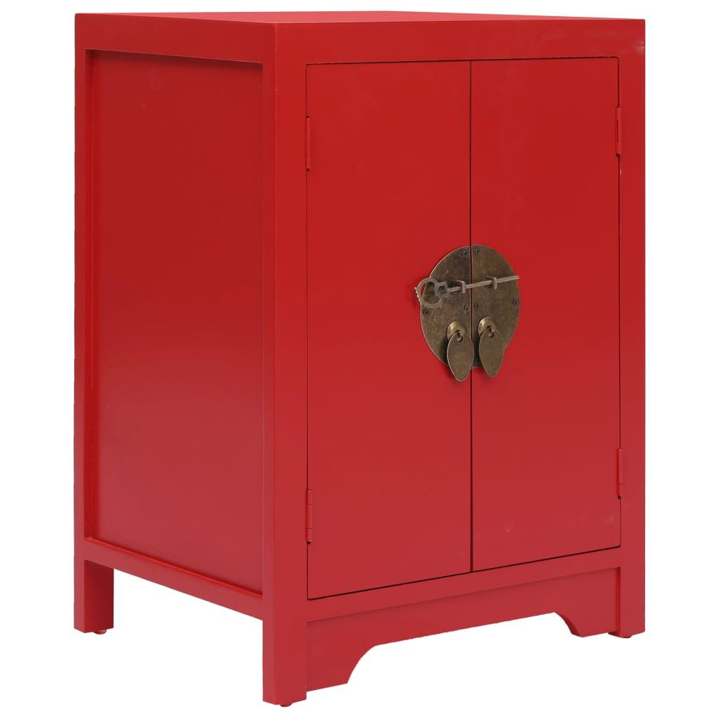 vidaXL Noční stolek červený 38 x 28 x 52 cm dřevo pavlovnie