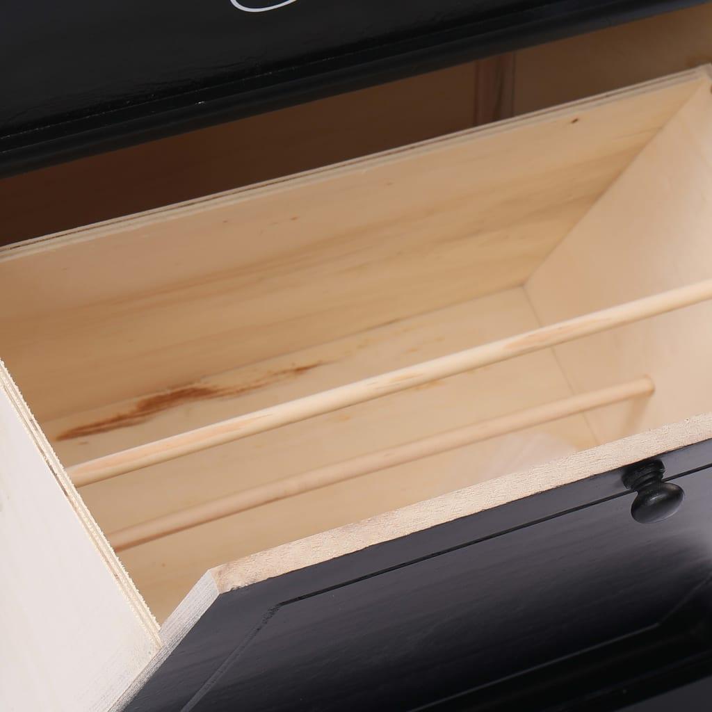 vidaXL Schoenenkast 50x28x58 cm paulowniahout zwart