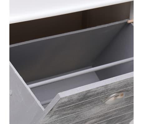 vidaXL Botník šedý 50 x 28 x 98 cm dřevo pavlovnie[7/8]