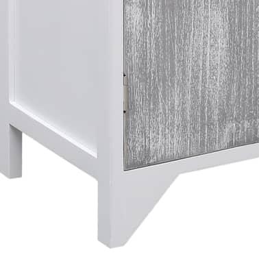 vidaXL Armoire latérale Gris et blanc 60x30x75 cm Bois de Paulownia[8/9]