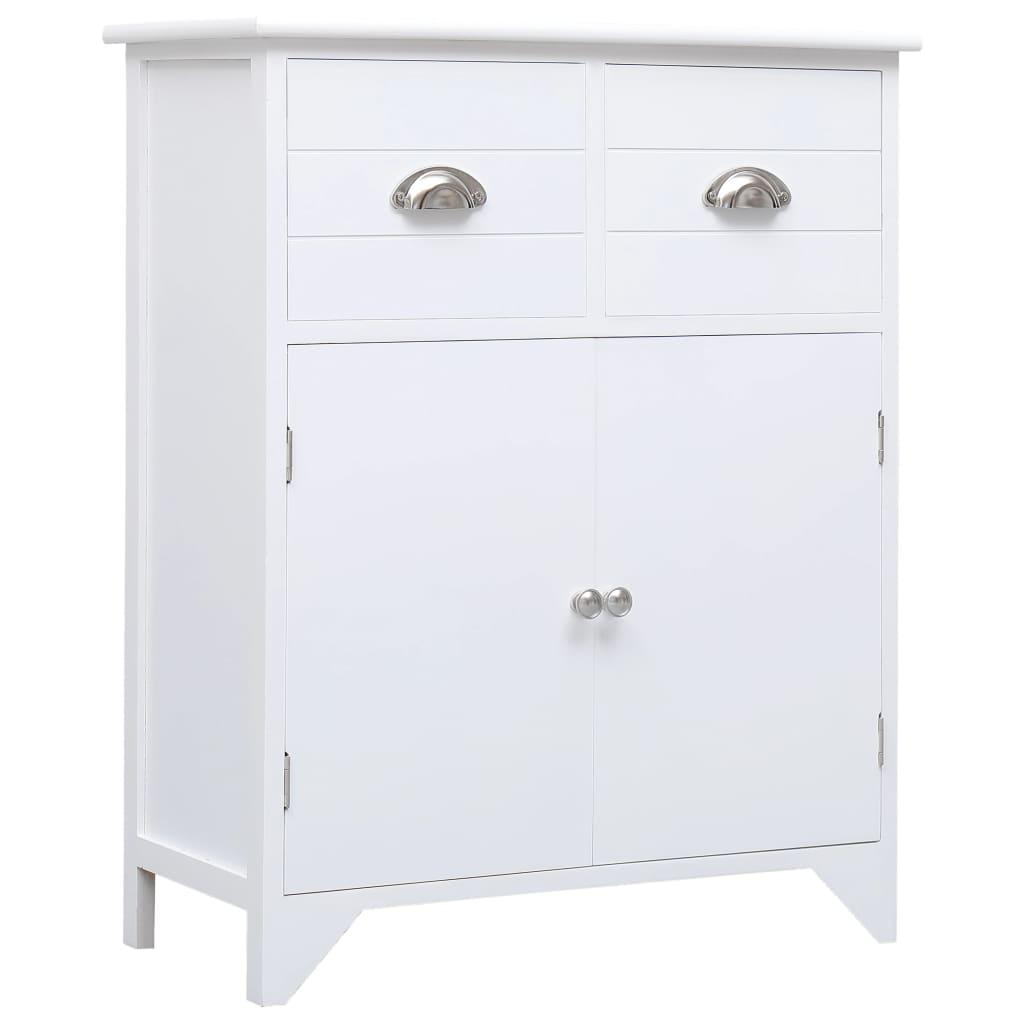vidaXL Odkládací skříňka bílá 60 x 30 x 75 cm dřevo pavlovnie