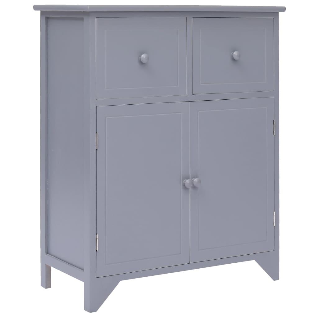 vidaXL Odkládací skříňka šedá 60 x 30 x 75 cm dřevo pavlovnie