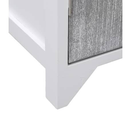 vidaXL Badkamerkast 46x24x116 cm paulowniahout wit en grijs[7/8]