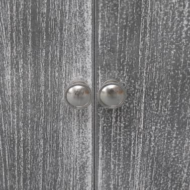 vidaXL Badkamerkast 46x24x116 cm paulowniahout wit en grijs[6/8]