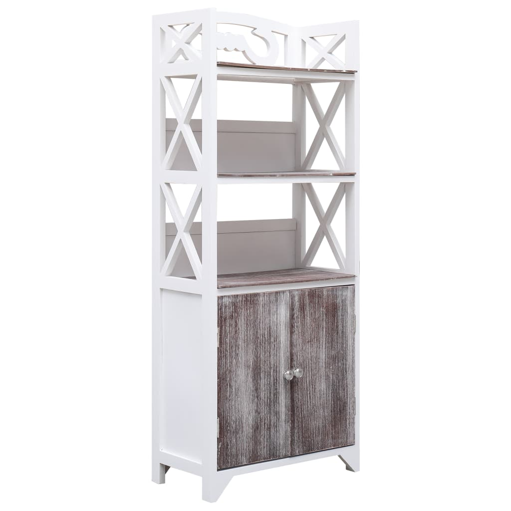 vidaXL Koupelnová skříňka bílo-hnědá 46 x 24 x 116 cm dřevo pavlovnie