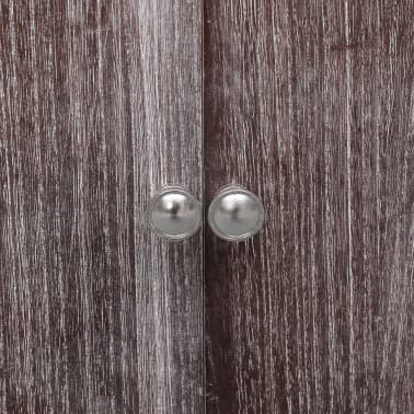 vidaXL Dulap de baie, alb și maro, 46 x 24 x 116 cm, lemn de paulownia[6/8]