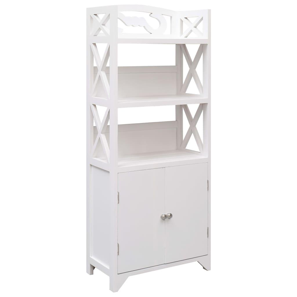 Koupelnová skříňka bílá 46 x 24 x 116 cm dřevo pavlovnie