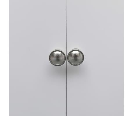 vidaXL Dulap de baie, alb, 46 x 24 x 116 cm, lemn de paulownia[5/8]