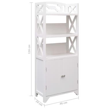 vidaXL Dulap de baie, alb, 46 x 24 x 116 cm, lemn de paulownia[8/8]