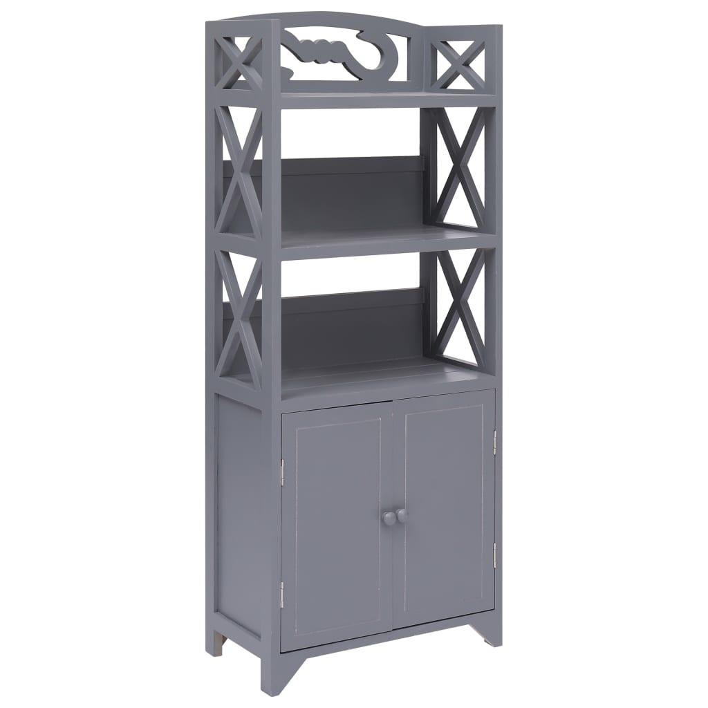 vidaXL Koupelnová skříňka šedá 46 x 24 x 116 cm dřevo pavlovnie
