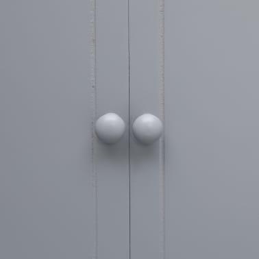 vidaXL Dulap de baie, gri, 46 x 24 x 116 cm, lemn de paulownia[6/8]