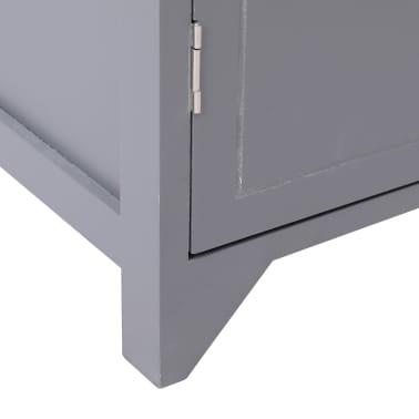 vidaXL Dulap de baie, gri, 46 x 24 x 116 cm, lemn de paulownia[7/8]