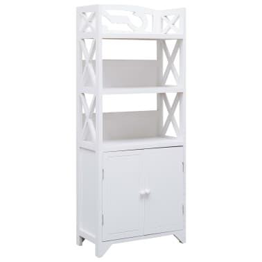 vidaXL Dulap de baie, alb, 46 x 24 x 116 cm, lemn de paulownia[1/8]