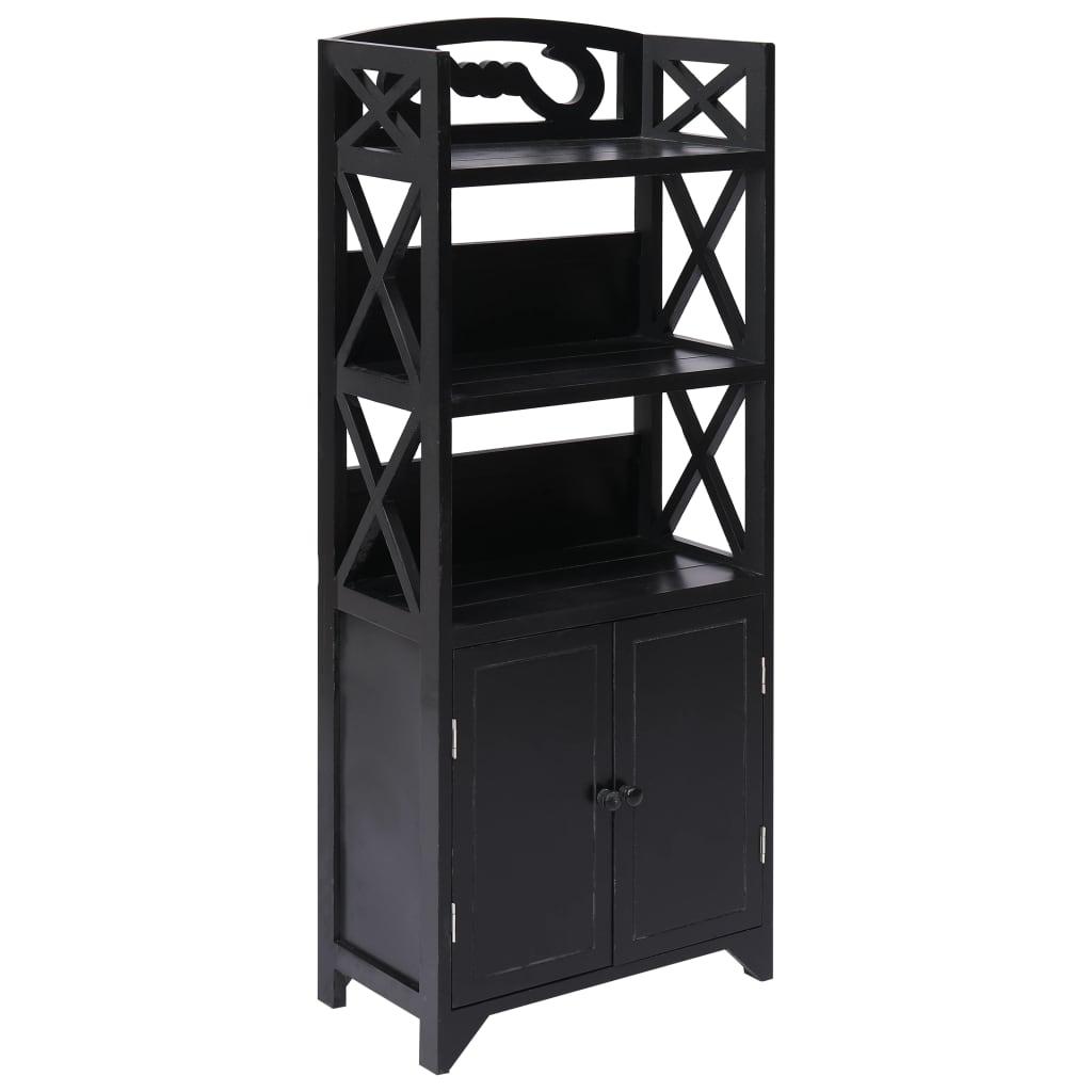 vidaXL Koupelnová skříňka černá 46 x 24 x 116 cm dřevo pavlovnie