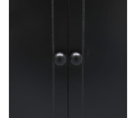 vidaXL Badkamerkast 46x24x116 cm paulowniahout zwart[6/8]