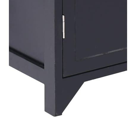 vidaXL Badkamerkast 46x24x116 cm paulowniahout zwart[7/8]