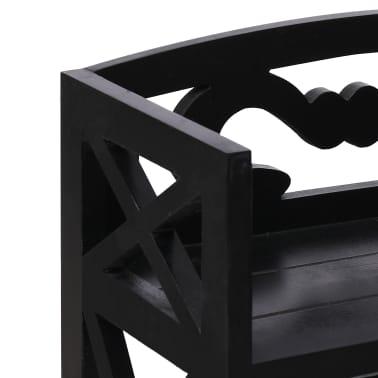 vidaXL Badkamerkast 46x24x116 cm paulowniahout zwart[5/8]