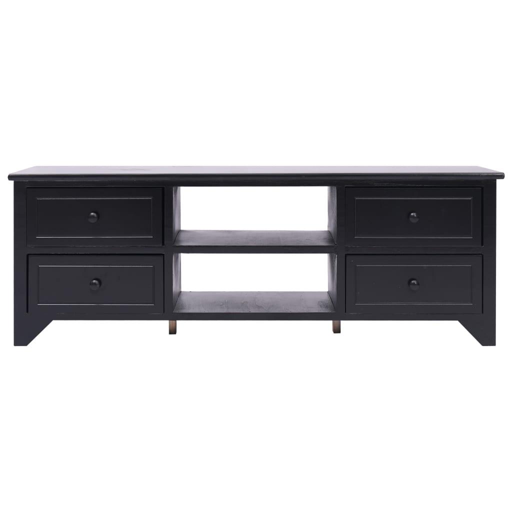 Tv-meubel 115x30x40 cm paulowniahout zwart