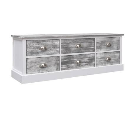 vidaXL Hall Bench Grey 115x30x40 cm Wood