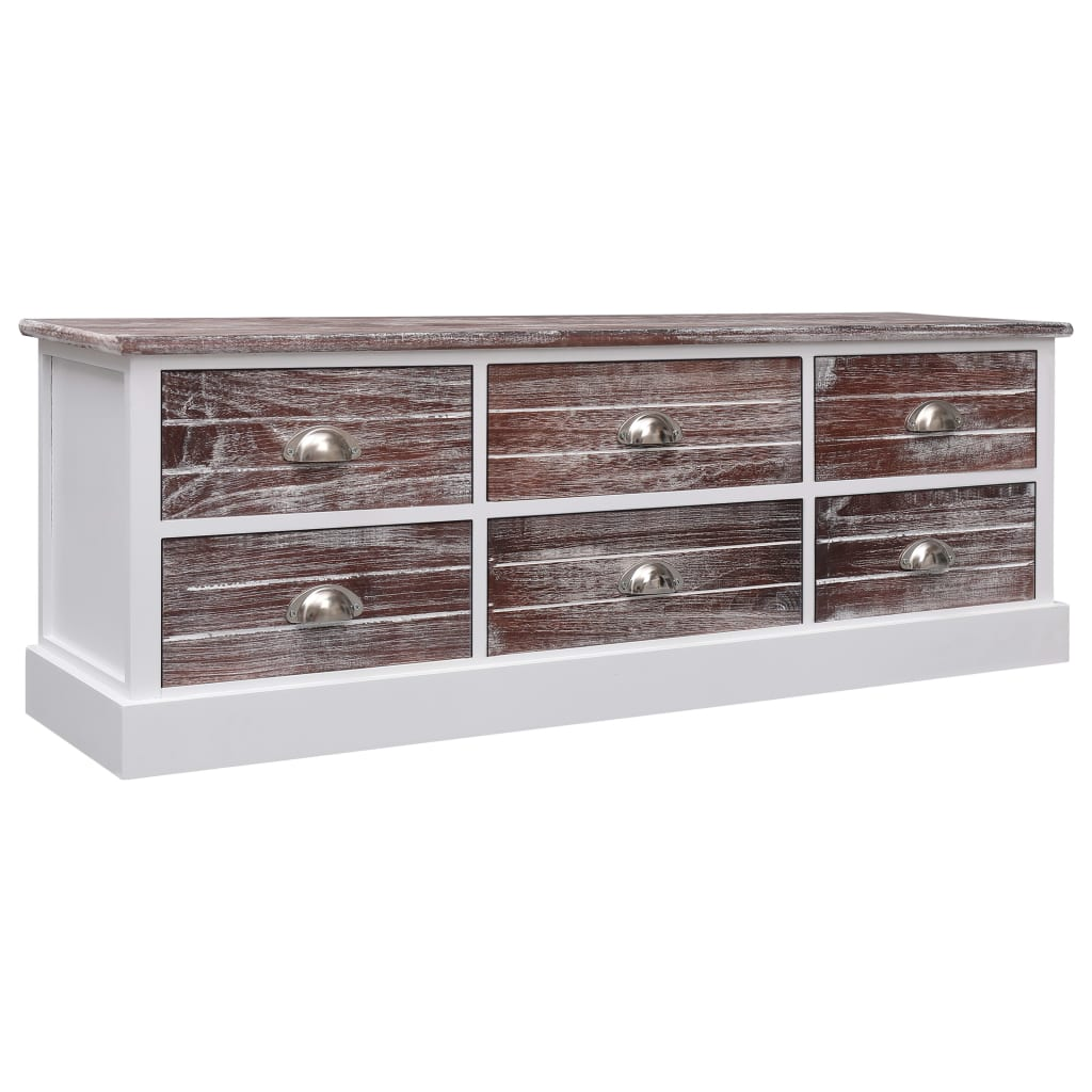 vidaXL Halbankje 115x30x40 cm hout bruin
