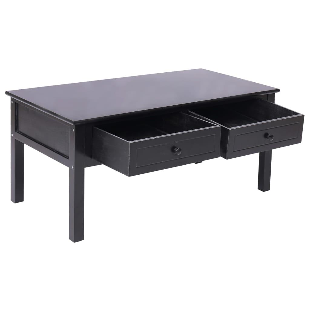 Salontafel 100x50x45 cm hout zwart