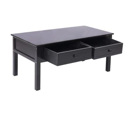vidaXL Kavos staliukas, juodas, 100x50x45cm, mediena[4/8]