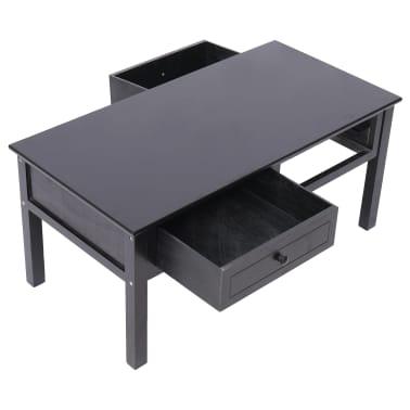 vidaXL Kavos staliukas, juodas, 100x50x45cm, mediena[5/8]