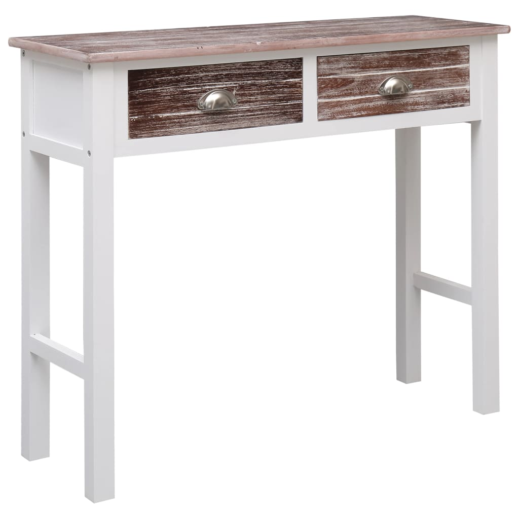 vidaXL Konzolni stol smeđi 90 x 30 x 77 cm drveni