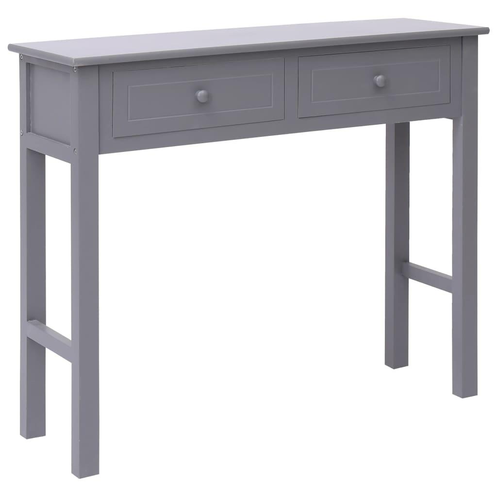 vidaXL Konzolni stol sivi 90 x 30 x 77 cm drveni