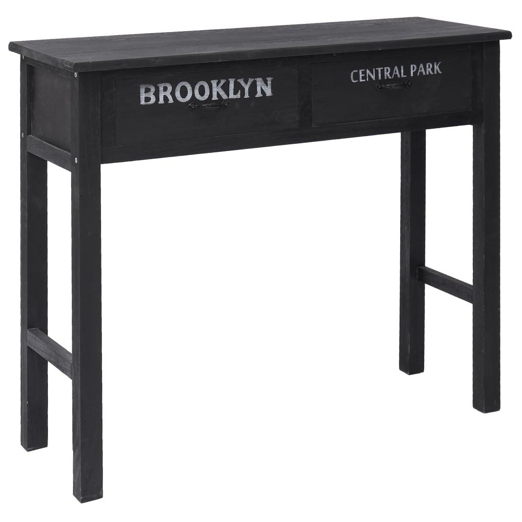 vidaXL Konzolni stol crni 90 x 30 x 77 cm drveni