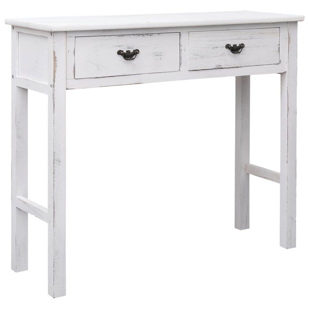 vidaXL Table console Blanc antique 90 x 30 x 77 cm Bois