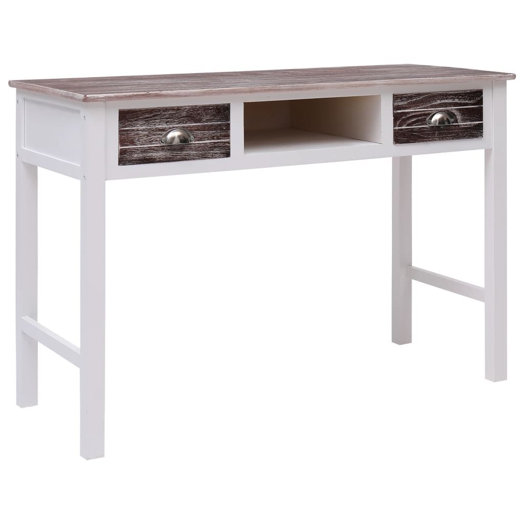 vidaXL Psací stůl hnědý 110 x 45 x 76 cm dřevo