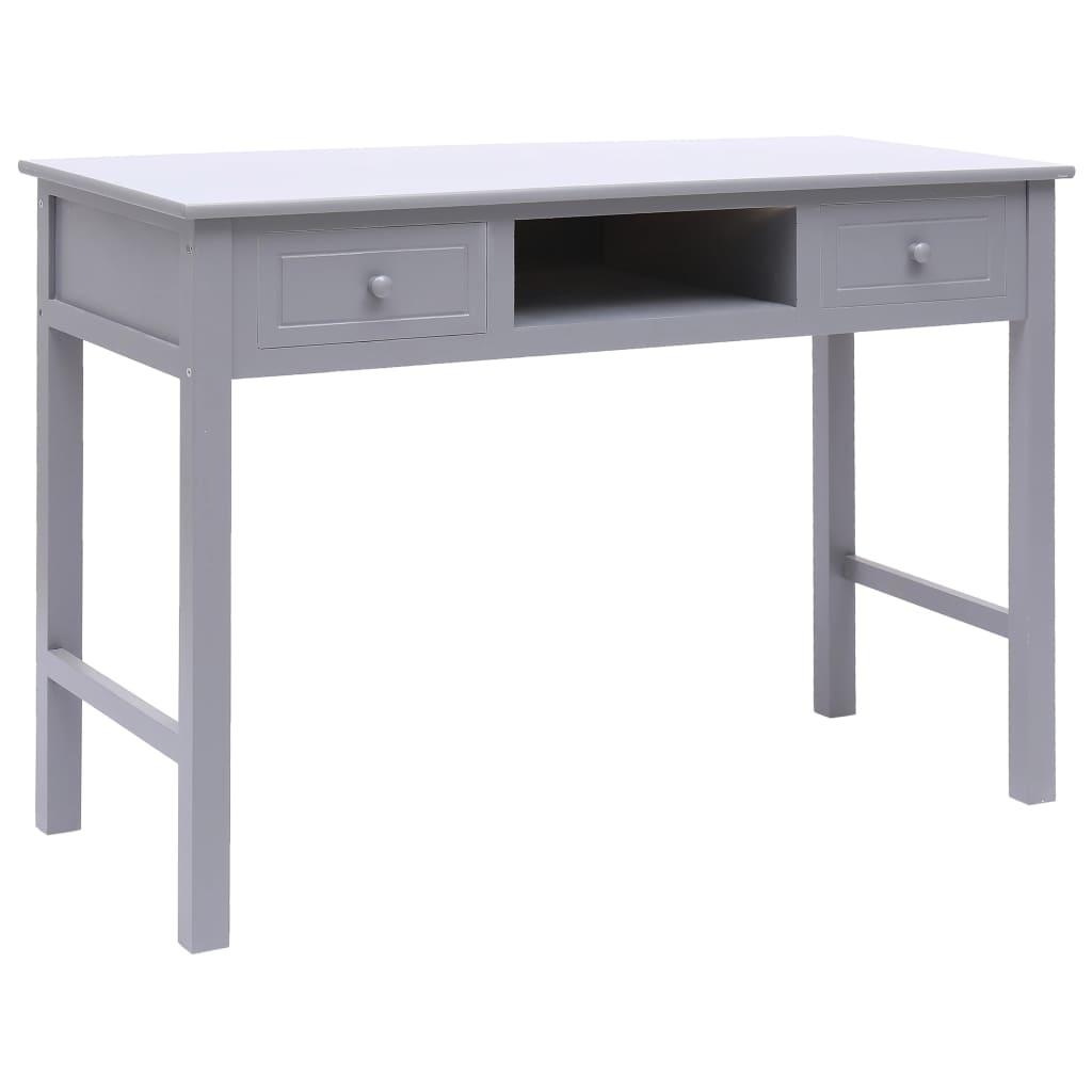 vidaXL Schreibtisch Grau 110×45×76 cm Holz