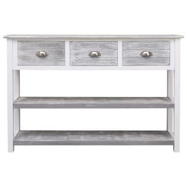 vidaXL Buffet Antique Gris 115 x 30 x 76 cm Bois[4/8]