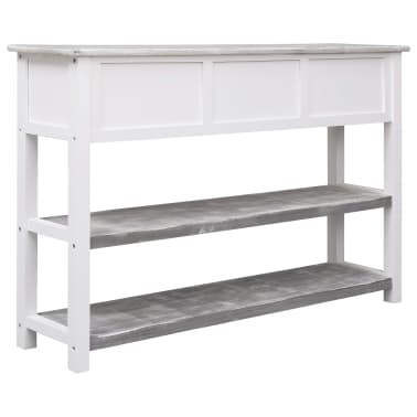vidaXL Buffet Antique Gris 115 x 30 x 76 cm Bois[5/8]