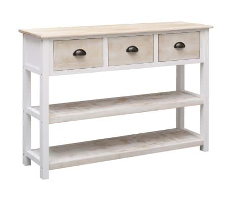 vidaXL Szafka, kolor naturalny i biały, 115 x 30 x 76 cm, drewniana[2/9]