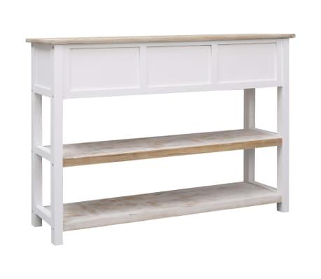 vidaXL Szafka, kolor naturalny i biały, 115 x 30 x 76 cm, drewniana[5/9]