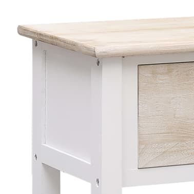 vidaXL Szafka, kolor naturalny i biały, 115 x 30 x 76 cm, drewniana[8/9]
