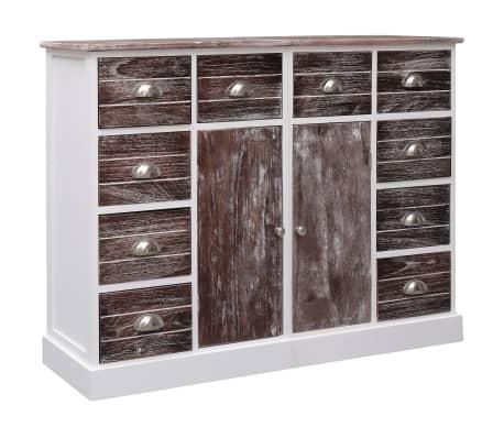 vidaXL Sideboard with 10 Drawers Brown 113x30x79 cm Wood