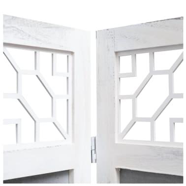 vidaXL Cloison de séparation 3 panneaux Gris 105x165 cm Tissu[5/6]