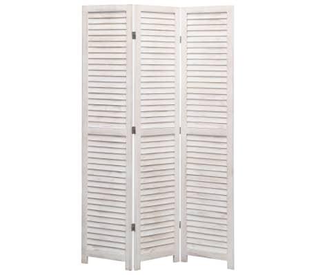 vidaXL Cloison de séparation 3 panneaux Blanc 105x165 cm Bois