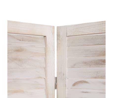 vidaXL Cloison de séparation 3 panneaux Blanc 105x165 cm Bois[5/6]