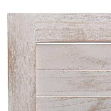 vidaXL Cloison de séparation 3 panneaux Blanc 105x165 cm Bois[6/6]