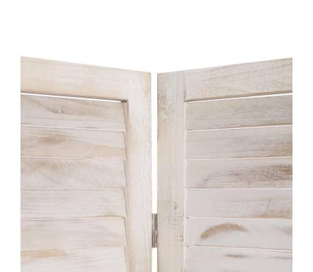 vidaXL Cloison de séparation 4 panneaux Blanc 140x165 cm Bois[5/6]