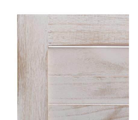 vidaXL Cloison de séparation 6 panneaux Blanc 210x165 cm Bois[6/6]