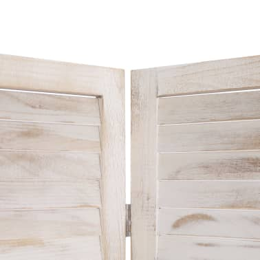 vidaXL Cloison de séparation 6 panneaux Blanc 210x165 cm Bois[5/6]