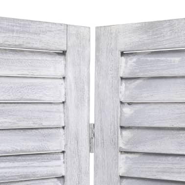 vidaXL Cloison de séparation 5 panneaux Gris 175x165 cm Bois[5/6]