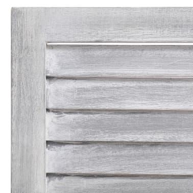 vidaXL Cloison de séparation 5 panneaux Gris 175x165 cm Bois[6/6]